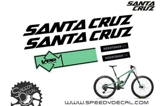 Santa Cruz Megatower CC 2020  - kit adesivi telaio