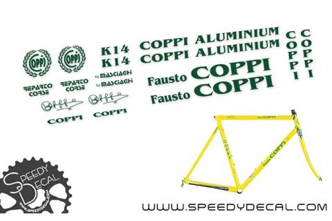 Fausto Coppi Aluminium k14 vintage - kit adesivi telaio