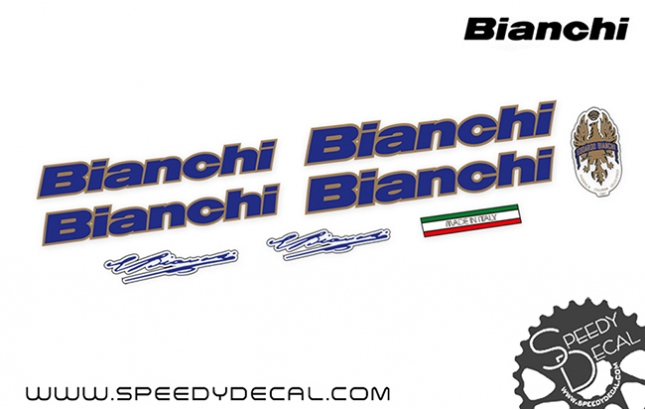 Bianchi vintage - kit adesivi telaio
