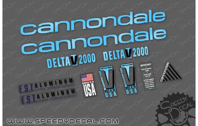 Cannondale Delta V 200 vintage - kit adesivi per telaio