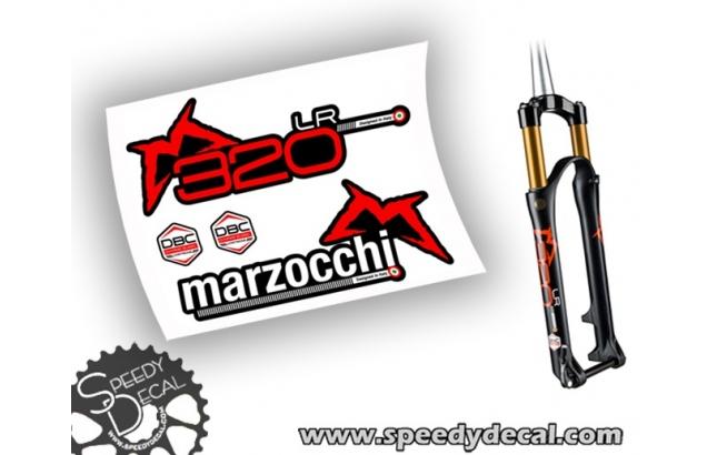 Marzocchi 320 LR 2015 DBR- adesivi per forcella
