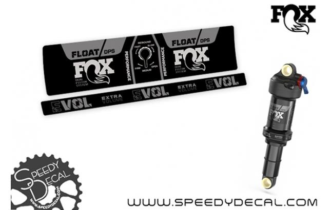 Fox Racing Shox Float DPS Performance 3 posizioni Evol SV 2021 - adesivi per ammortizzatore posteriore