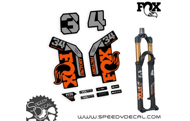 Fox 34 factory SC 2022 - adesivi per forcella