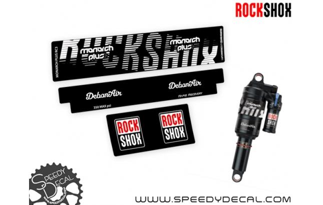 Rock Shox Monarch Plus+ 2022 - adesivi per ammortizzatore posteriore