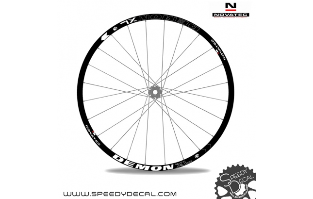 Novatec Demon XL - adesivi per ruote