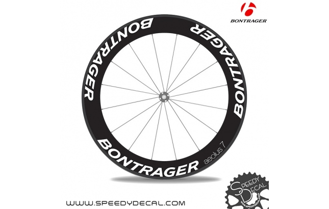 Bontrager Aeolus 7 anno 2018 - adesivi personalizzati per ruote