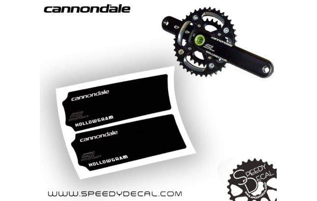 Cannondale Hollowgram SL - adesivi per pedivelle