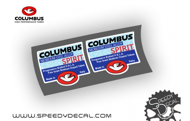 Columbus Spirit NIOBILIUM STEEL ALLOY - kit 2 adesivi