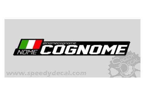 Modello 12 - Kit adesivi nominativi (30 pezzi) - Cannondale Factory racing