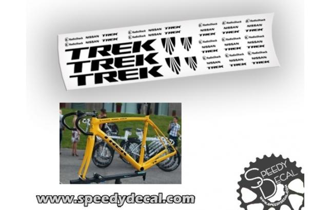 Trek Domane Factory Racing Radio Shack Nissan - adesivi personalizzati per telaio