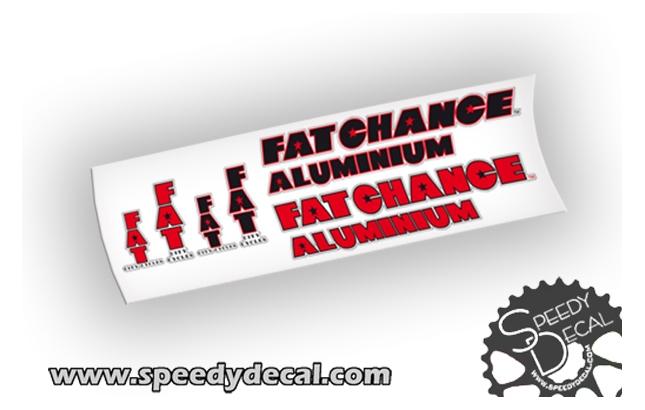 Fat city cycles - aluminium - adesivi personalizzati per telaio vintage
