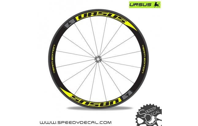 Ursus Miura T47 Team Edition - adesivi personalizzati per ruote