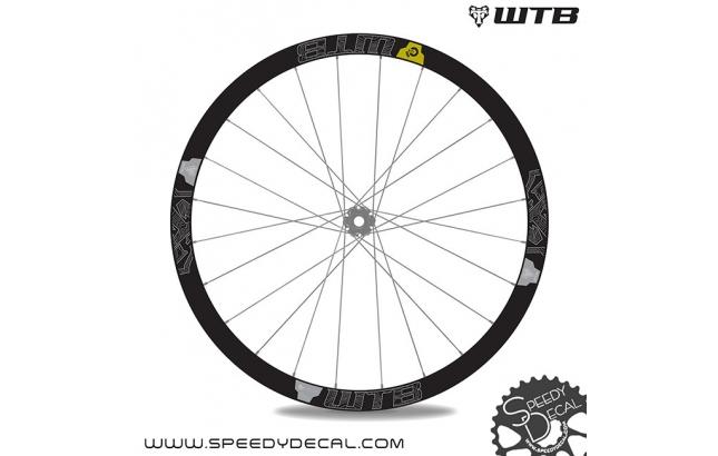 WTB Ci24 carbon - adesivi personalizzati per ruote MTB