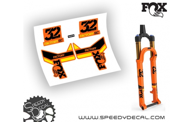 Fox 32 Factory SC Step Cast 2019 - adesivi per forcella