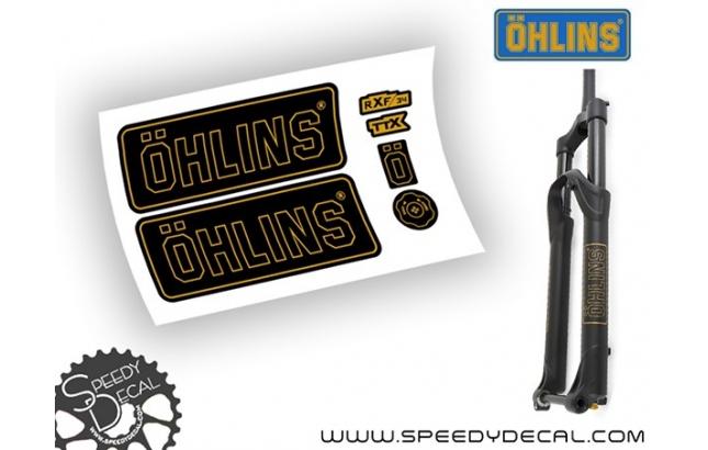 Ohlins RXF 34 anno 2017 - adesivi per forcella