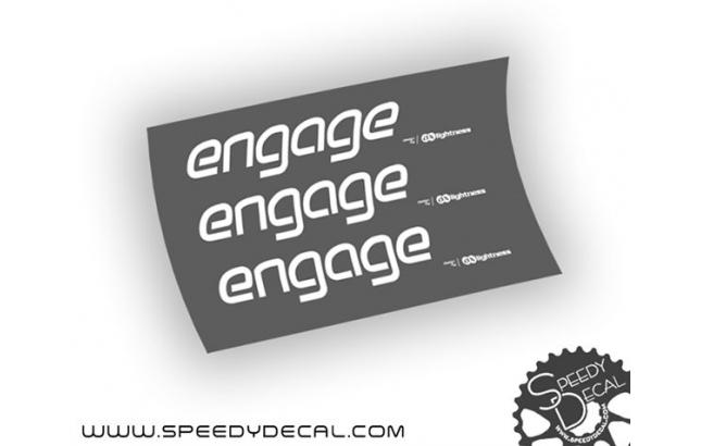 Ax Lightness Engage - adesivi personalizzati