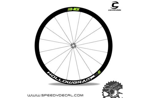 Cannondale Hollowgram HG - adesivi personalizzati per ruote strada
