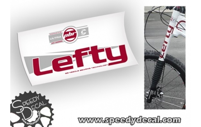 Cannondale Lefty PBR Ultra 120 Opi anno 2012 - adesivi per forcella