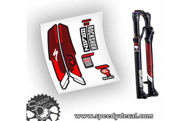 Rock Shox SID BRAIN 2015 - adesivi per forcella