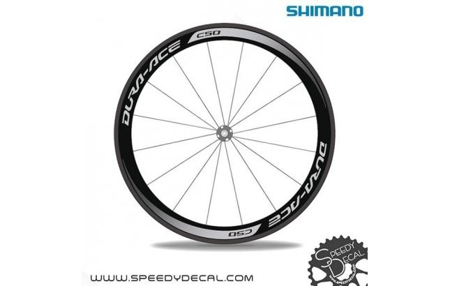 Shimano Dura Ace C50 2014 - Adesivi personalizzati per ruote strada