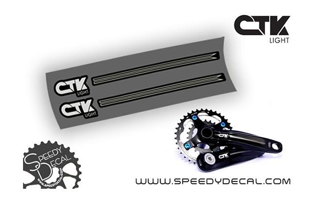 CTK Light - adesivi personalizzati per pedivelle