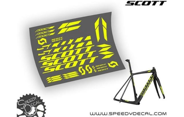 Scott Addict CX 2017 - kit adesivi telaio