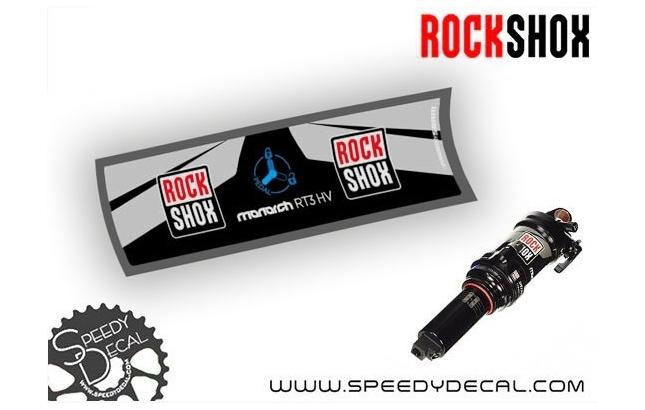 Rock Shox Monarch RT3 HV 2017 - adesivi per ammortizzatore posteriore