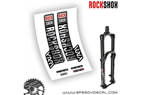 Rock shox Yari RC - anno 2019 - adesivi personalizzati per forcella