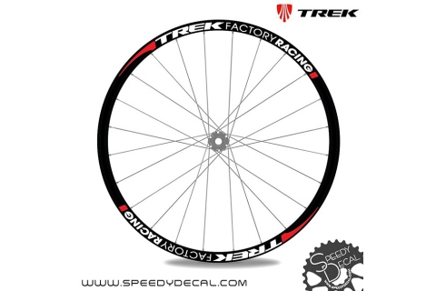 Trek Factory Racing - Adesivi personalizzati per ruote