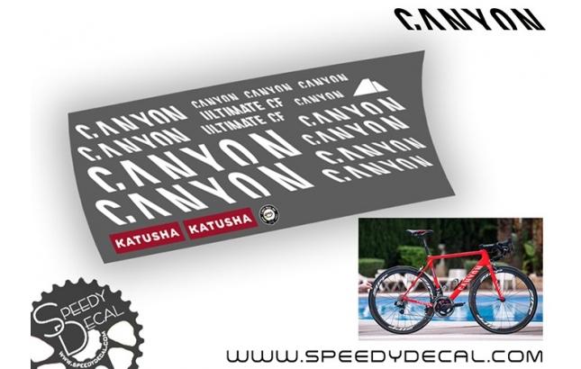Canyon Ultimate CF 2017 team Kathusha - kit adesivi telaio