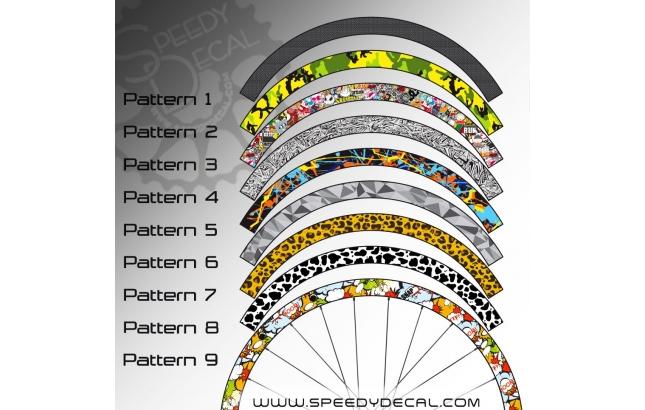 Adesivi per ruote con pattern personalizzato