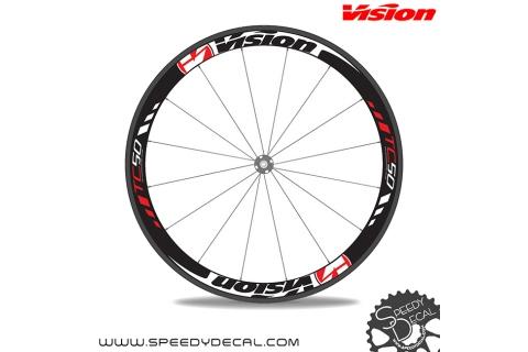 Vision tc50 adesivi personalizzati per ruote strada