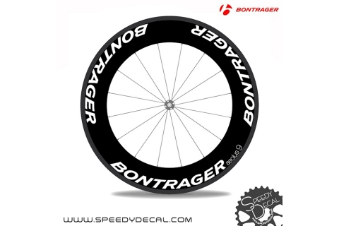 Bontrager Aeolus 9 anno 2018 - adesivi personalizzati per ruote