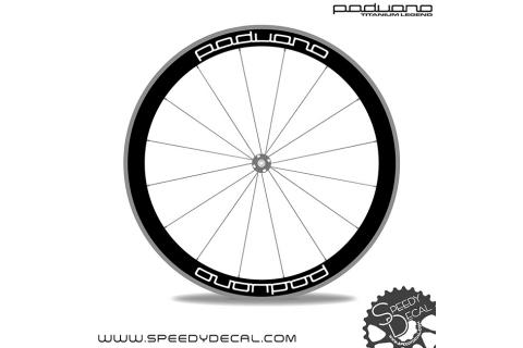 Adesivi personalizzati ruote con logo Paduano
