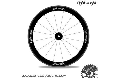 Lightweight Standard 3 adesivi personalizzati per ruote strada
