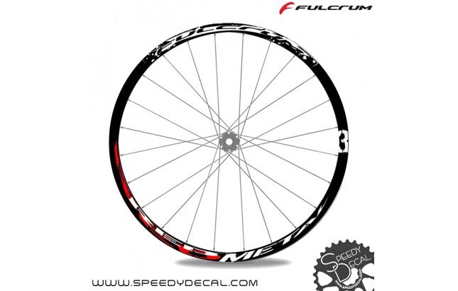 """Fulcrum Red Metal 3 - 26"""" - adesivi personalizzati per cerchi mtb"""