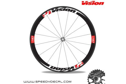 Vision t42 adesivi personalizzati per ruote strada