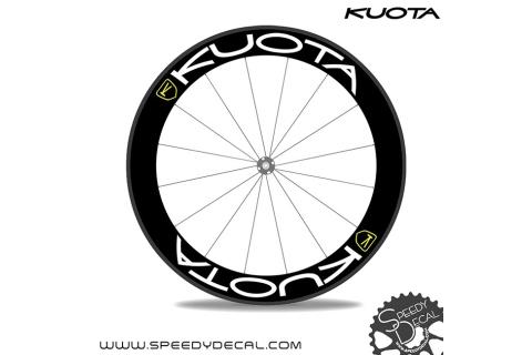 logo Kuota - adesivi personalizzati per ruote strada/mtb