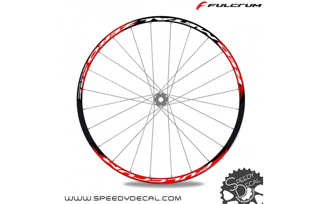 "Fulcrum Red Metal Zero XRP 26"" - adesivi per ruote"