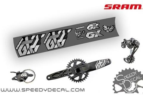 Sram GX Eagle 2017 - adesivi per gruppo completo