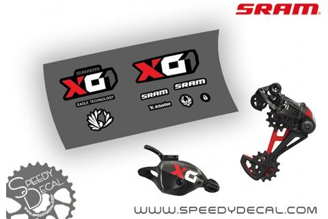 Sram X01 Eagle - adesivi per gruppo