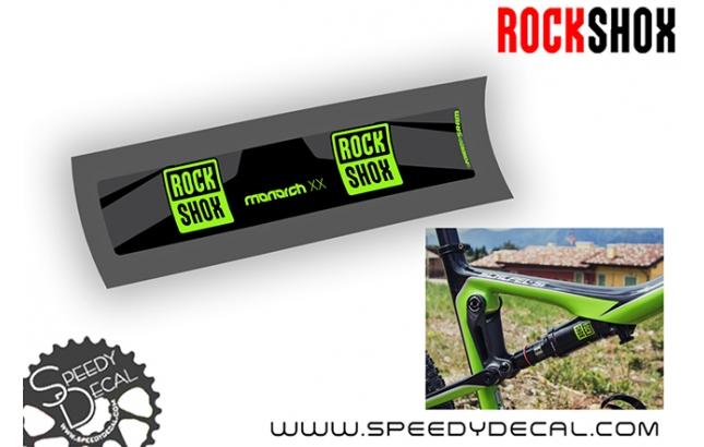 Rock Shox Monarch XX 2017 - adesivi per ammortizzatore posteriore